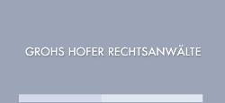 Logo Grohs Hofer Rechtsanwälte GmbH & Co KG